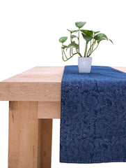 Birds of Paradies Table Runner - Blue