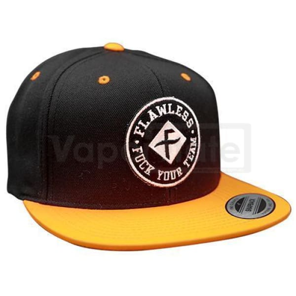 Flawless F.y.t Snapback Hat Black/orange Clothing