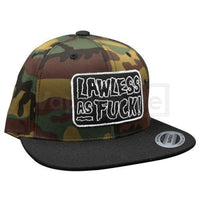 Flawless Fiend L.a.f Snapback Hat Camo/black Clothing