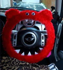 sams red monster steering wheel cover
