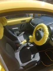 yellow fluffy beetle customer