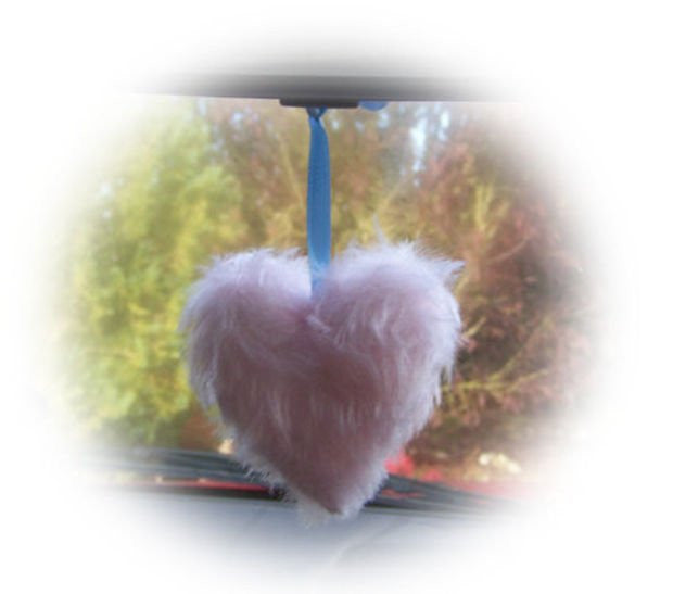 Cute Baby Pink Fluffy heart hanging - Poppys Crafts