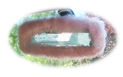 Baby Pink Cute Faux Fur Rear View Interior Car Mirror Cover