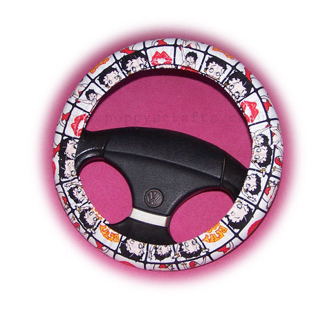Cute Betty Boop Cotton car steering wheel cover **OUT OF STOCK**