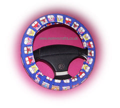 Multi-Coloured Campervan Cotton Car Steering Wheel Cover