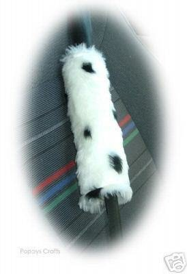 Dalmatian Spot faux fur single shoulder strap pad - Poppys Crafts
