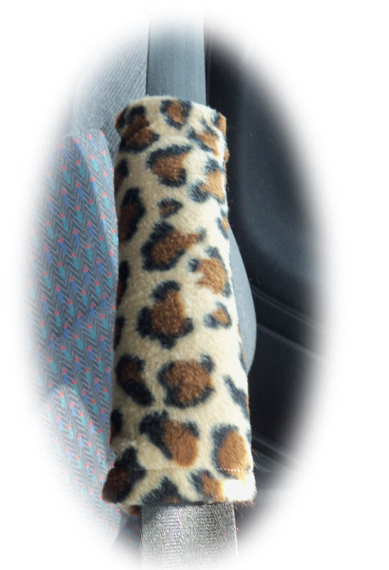 Leopard print fleece single shoulder strap pad - Poppys Crafts