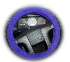 Gorgeous dark Purple fleece car steering wheel cover - Poppys Crafts
