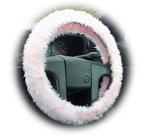 Baby pink fuzzy car Steering wheel cover