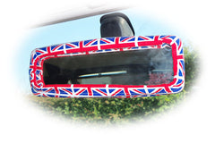 Union jack flag cotton rear view mirror cover - Poppys Crafts  - 1