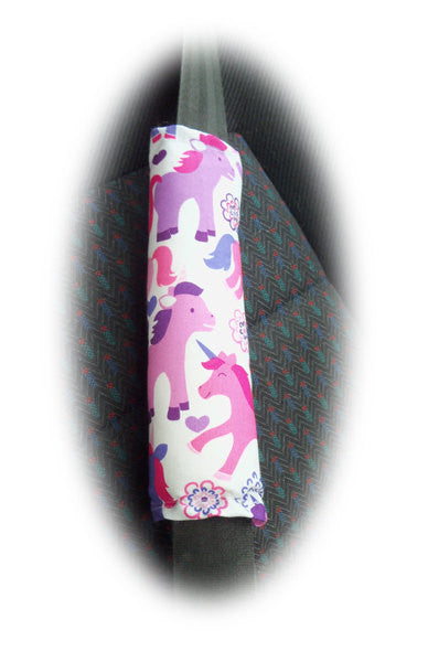 *OUT OF STOCK* Magical Unicorns cotton seatbelt covers 1 pair *OUT OF STOCK* - Poppys Crafts