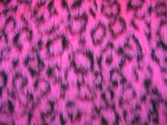 Fuzzy Pink Leopard faux fur car steering wheel cover cute animal print furry fluffy and wild - Poppys Crafts  - 1