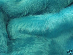 Teal Turquoise fuzzy faux fur car steering wheel cover - Poppys Crafts