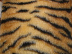 Gold Tiger stripe fuzzy faux fur car steering wheel cover - Poppys Crafts  - 2
