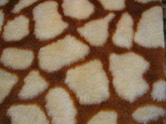 Giraffe print fuzzy faux fur car steering wheel cover Cute - Poppys Crafts  - 2