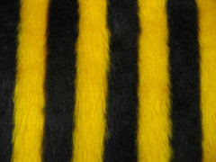 Bumble Bee stripey faux fur seatbelt pads 1 pair - Poppys Crafts