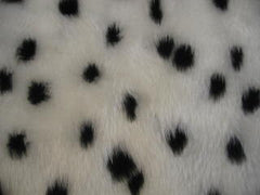 Black and white fuzzy Dalmatian spot car steering wheel cover - Poppys Crafts