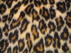 Leopard Print Fluffy Faux Fur 4 Piece Car Accessories Set