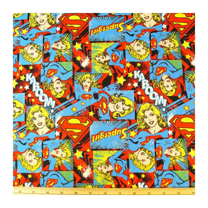 Steering Wheel Cover Supergirl Comic Book Fabric Print Geek Car Wrap Jeep Truck Suv Van Retro Super Girl Hero Nerd Justice League Cotton