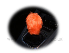 fluffy Gear knob stick shift cover faux fur furry fuzzy choose your colour - Poppys Crafts