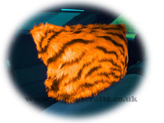 1 pair of Fuzzy Faux fur Headrest covers in a choice of print's