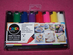 8 Uni Posca Standard Colour Marker Pens - Large PC-7M - Poppys Crafts