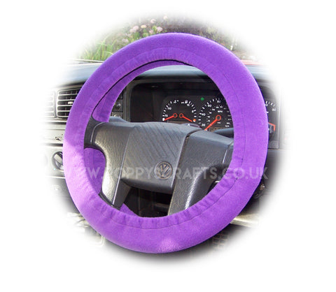 Gorgeous dark Purple fleece car steering wheel cover