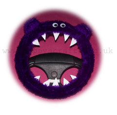 Fuzzy Purple Monster Faux Fur Car Steering Wheel Cover