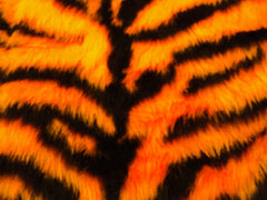 Orange and black tiger stripe fuzzy faux fur seatbelt pads 1 pair - Poppys Crafts