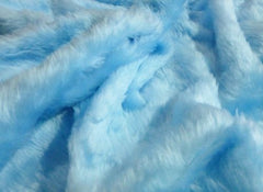 1 pair of Fuzzy Baby blue fluffy car seatbelt pads faux fur - Poppys Crafts