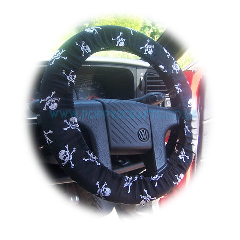 Skull and crossbones print Cotton car steering wheel cover