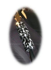 1 pair of faux fur fuzzy seatbelt pads in a choice of print's