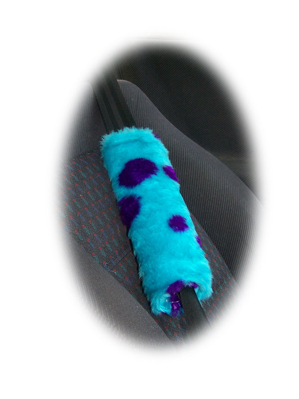 Monster sully spot fuzzy seatbelt pads 1 pair