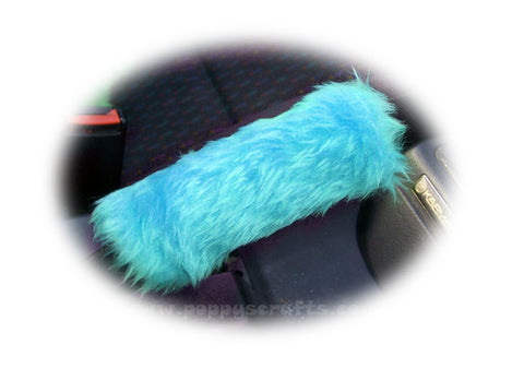 Fuzzy faux fur Turquoise / teal Handbrake cover cute
