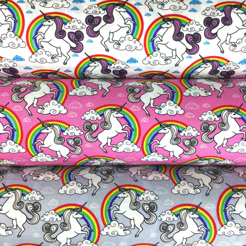Unicorns and Rainbows cotton car steering wheel cover