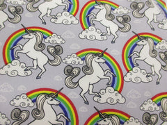 Magical Unicorn and Rainbow cotton seatbelt pads 1 pair - Poppys Crafts