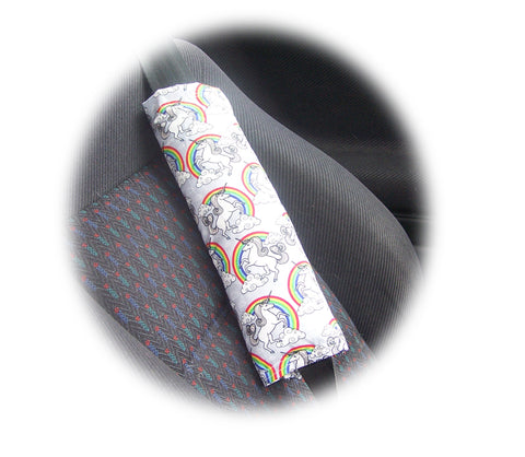 Magical Unicorn and Rainbow cotton shoulder strap pad