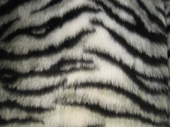 White Tiger Stripe fuzzy seatbelt pads 1 pair - Poppys Crafts