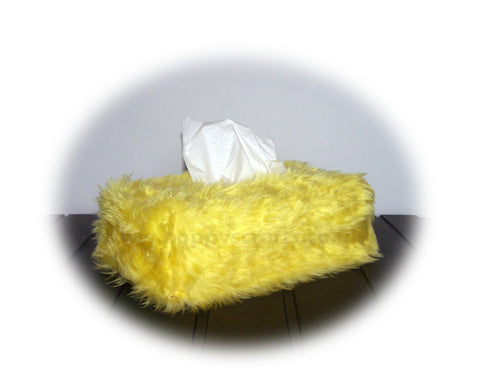 Fluffy faux fur Rectangular Tissue Box Cover choice of colours