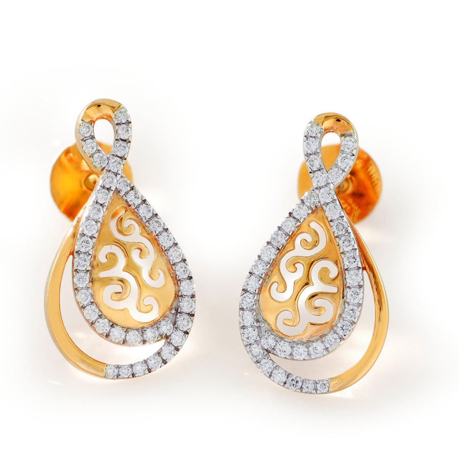 Spill Design Diamond Studded Earring