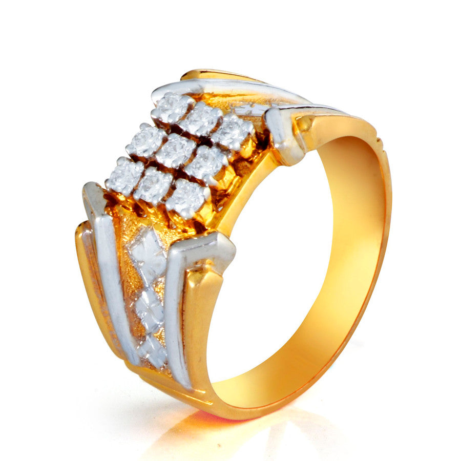 Elegant Square Shape Studded Diamond Ring