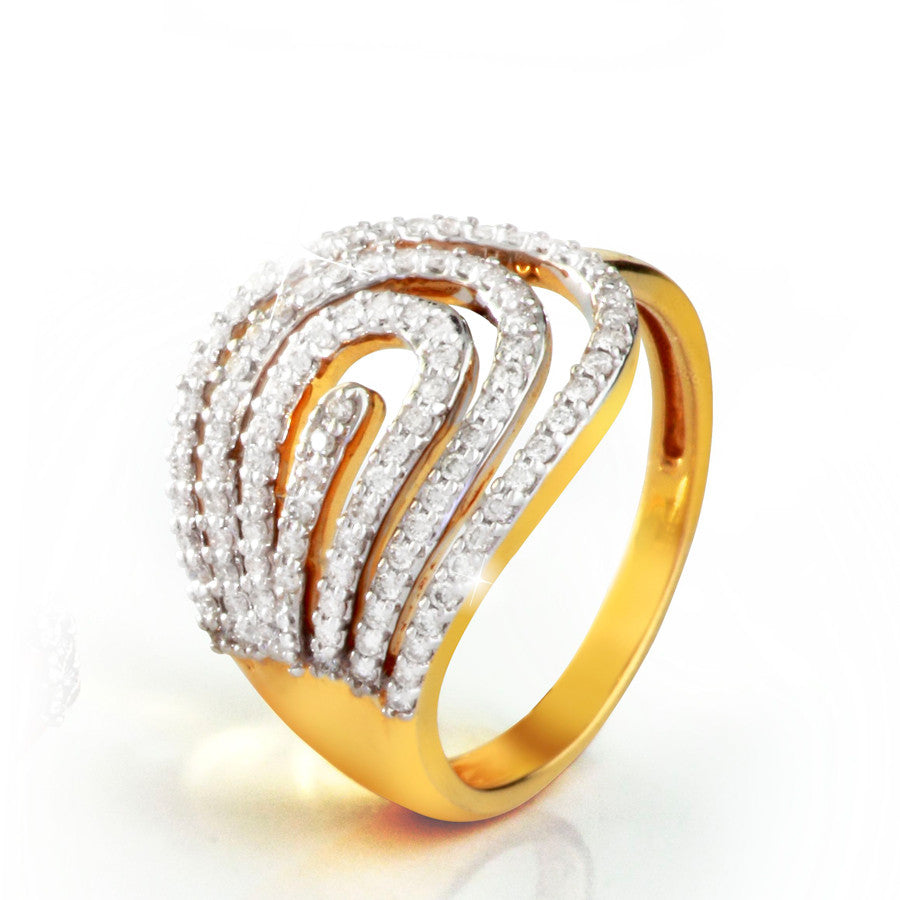 MultiCurved Strips Diamond Rings