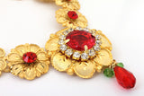 Rose Red Color Stone Studded Haar