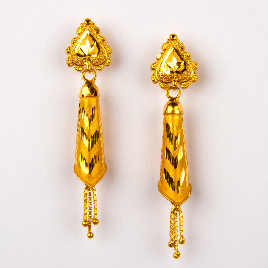 Fancy Gold Earring