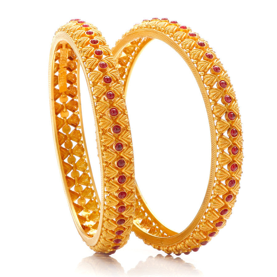 Rajwadi Design with Studded With Red Kundan