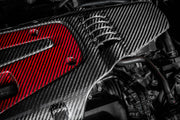 Eventuri Carbon Fibre & Red Carbon/Kevlar Engine Cover | Honda Civic Type R | FK2/FK8 2.0T K20C1 | 2015+