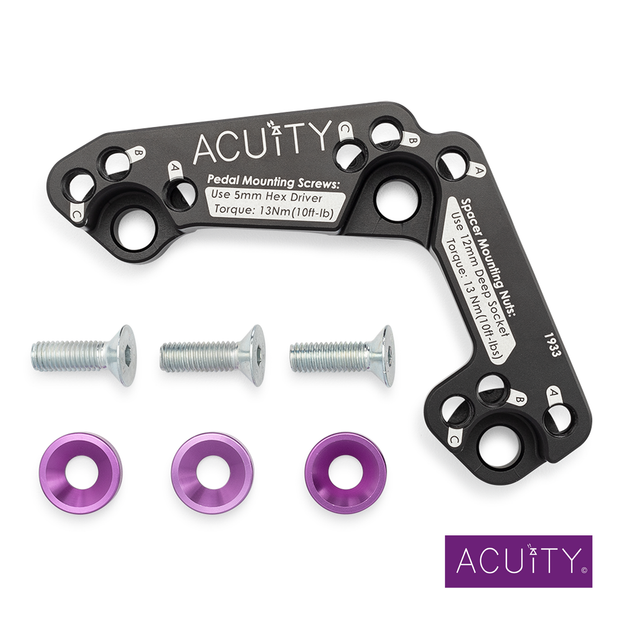 Acuity Instruments Throttle Pedal Spacer | Honda Civic Type R | FK2/FK8 2.0T K20C1 | 2015+