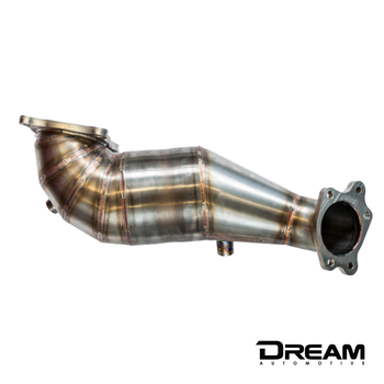 Dream Automotive Downpipe With HJS High Flow Sports Cat | Honda Civic Type R | FK2 2.0T K20C1 | 2015-2016
