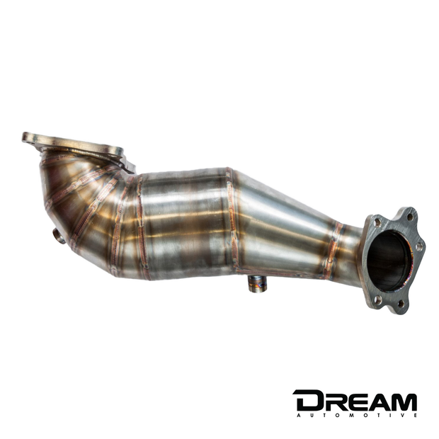 Dream Automotive Downpipe With HJS High Flow Sports Cat | Honda Civic Type R | FK8 2.0T K20C1 | 2017+