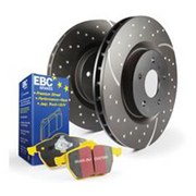 EBC Yellowstuff Front Brake Pads and Turbo Groove Disc Kit | Honda Civic Type R | FK2/FK8 2.0T K20C1 | 2015+